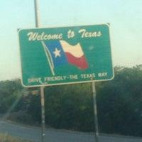 Photo taken at Oklahoma / Texas Border by Barbara K. on 6/3/2014