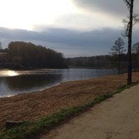 Photo taken at Озеро в Красногорском лесу by Yana B. on 4/22/2014