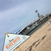 Photo taken at Beach by the USS Lexington by Roger C. on 5/30/2016