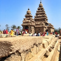 Photo taken at Shore Temple by Prmod B. on 1/19/2013