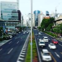 Photo taken at 青山通り (青山学院前) by Seiji Y. on 5/8/2016