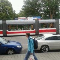 Photo taken at Pionýrská (tram, bus) by Posp on 6/25/2013