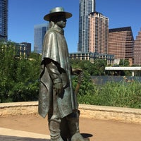 Photo taken at Stevie Ray Vaughan Statue by Ryan G. on 4/30/2017