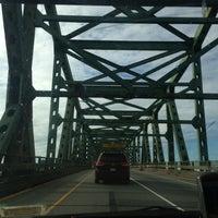 Photo taken at Maurice J. Tobin Memorial Bridge by Joe C. on 11/3/2012