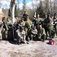 Photo taken at Пейнтбол п. Агалатово by Mikhail K. on 5/2/2013