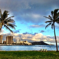Photo taken at Magic Island by Kelly K. on 10/30/2012