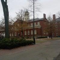 Photo taken at Harvard Hall by Kit K. on 12/16/2014