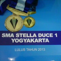 Photo taken at SMA Stella Duce 1 by Maria A. on 6/1/2013