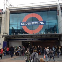 Photo taken at Brixton London Underground Station by Marcelo A. on 10/27/2012