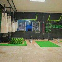 Photo taken at GreenBox Crossfit by David Z. on 5/1/2014