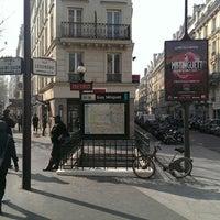 Photo taken at Métro Guy Moquet [13] by Cyril B. on 3/14/2014