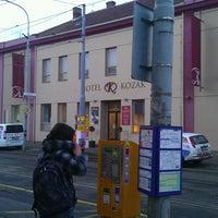 Photo taken at Mozolky (tram, bus) by Boris B. on 2/6/2014