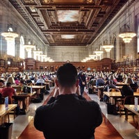 Photo taken at New York Public Library - Stephen A. Schwarzman Building Celeste Bartos Forum by Andy Y. on 4/5/2014