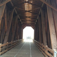 Photo taken at Chambers Covered Bridge by Kimberly B. on 1/17/2014
