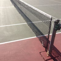 Photo taken at Carmichael tennis courts by Christopher B. on 6/28/2017