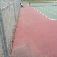 Photo taken at Carmichael tennis courts by Christopher B. on 7/7/2017