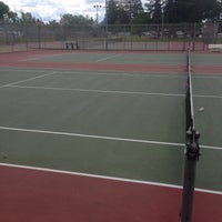 Photo taken at Carmichael tennis courts by Christopher B. on 6/11/2017