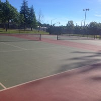 Photo taken at Carmichael tennis courts by Christopher B. on 6/17/2017