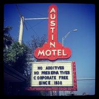Photo taken at Austin Motel by Cam B. on 4/14/2013