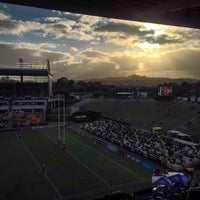 Photo taken at Mt Smart Stadium by Russell James S. on 6/29/2014