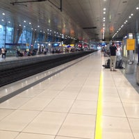 Photo taken at Frankfurt Airport Int'l Railway Station by Hyeseung H. on 8/4/2015