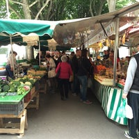 Photo taken at Marché Jean Macé by Lionel B. on 4/26/2014