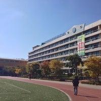 Photo taken at 정의여자중학교 by Hee.J K. on 10/22/2013