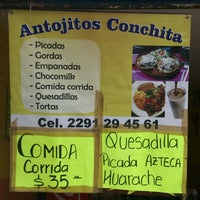 Photo taken at Antojitos Conchita by Carlos G. on 2/5/2014