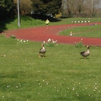 Photo taken at Finsbury Park Athletics Track by Paul D. on 4/21/2013