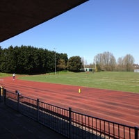 Photo taken at Finsbury Park Athletics Track by Paul D. on 4/20/2013