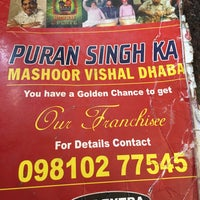 Photo taken at Puran Singh Da Dhaba | पूरन सिंह दा ढाबा by Vidit K. on 12/3/2014