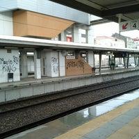 Photo taken at Estação Ferroviária de Moscavide by Filipe P. on 4/3/2013