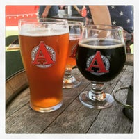 Photo taken at Asher Brewing Company by Leslie G. on 8/7/2016