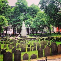 Photo taken at Granary Burying Ground by Anabel M. on 5/20/2013