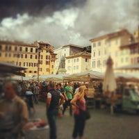 Photo taken at Campo de' Fiori by Francesco P. on 10/12/2012