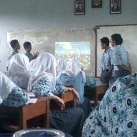 Photo taken at SMA Negeri 1 Margahayu by Alda A. on 1/29/2014