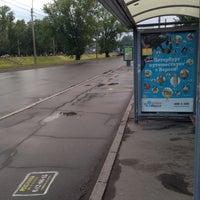"Photo taken at Остановка «ст. м. ""Черная речка""» by Анатолий on 6/13/2014"