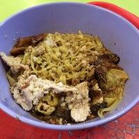 Photo taken at Ah Kow Mushroom Minced Pork Mee by Gene S. on 1/18/2014