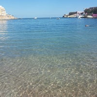 Photo taken at St. George's Bay by Robertas Š. on 10/23/2013