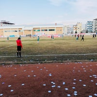 Photo taken at Mut İlçe Stadyumu by Erdem Ö. on 2/11/2018