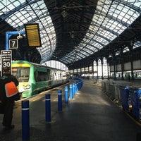 Photo taken at Brighton Railway Station (BTN) by Tiffany L. on 12/11/2012