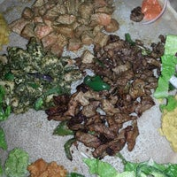Photo taken at Abyssinia Ethiopian Restaurant by Chatter P. on 10/26/2013