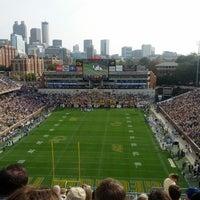 Photo taken at Bobby Dodd Stadium by Michael P. on 10/27/2012