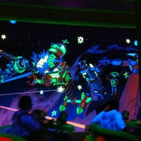 Photo taken at Buzz Lightyear's Space Ranger Spin by Rebeca C. on 2/5/2013