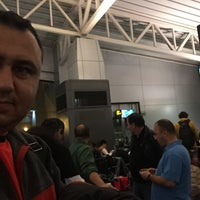 Photo taken at Gate B217 by Mustafa S. on 3/2/2015