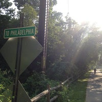 Photo taken at Schuylkill River Trail - Spring Mill by Eat Drink & Be Philly on 8/21/2013