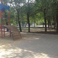 Photo taken at Сквер на Белопольского by Daria S. on 7/14/2014