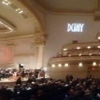 Снимок сделан в Stern Auditorium / Perelman Stage at Carnegie Hall пользователем Mehmet 11/26/2017