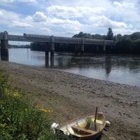 Photo taken at Kew Railway Bridge by Lida S. on 6/8/2014