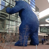 Photo taken at Big Blue Bear (I See What You Mean) by Ant O. on 2/17/2013